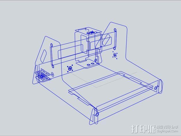 数控铣床 3D模型  图4