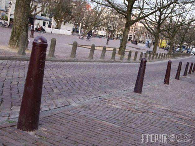 阿姆斯特丹安全护柱 3D模型  图3