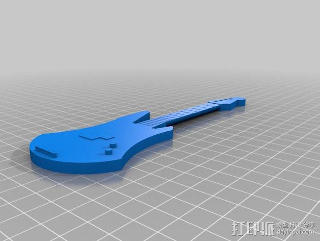 低音吉他 3D模型  图1