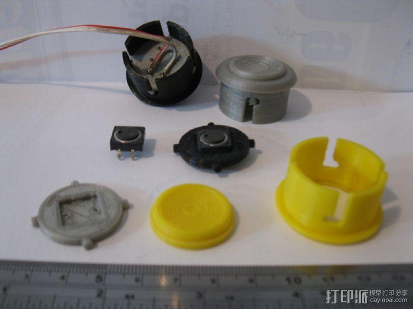 按钮 3D模型  图1