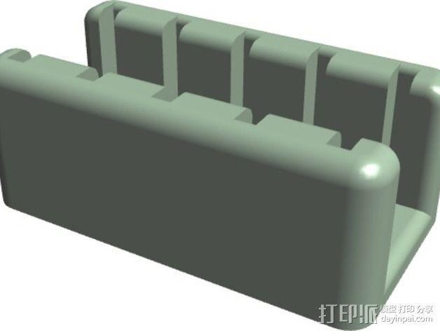 迷你SD卡支架 3D模型  图1
