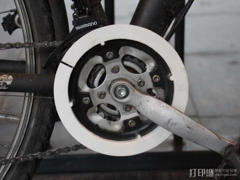 自行车链条保护环 3D模型  图1