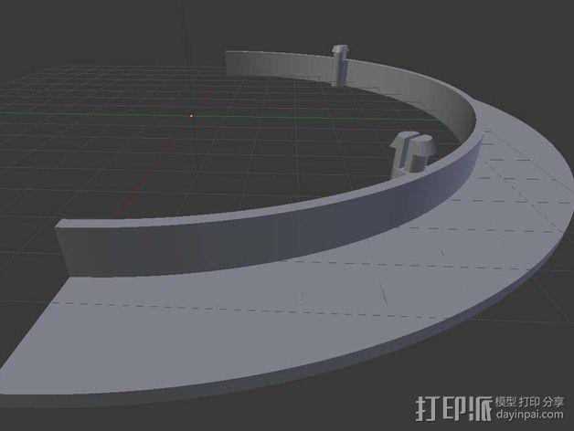 自行车链条保护环 3D模型  图3