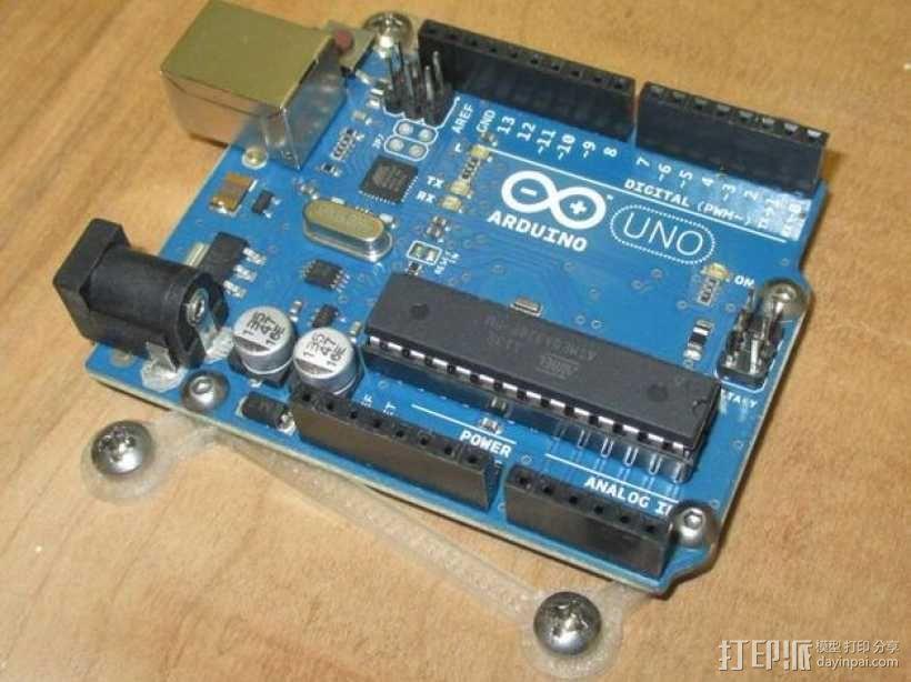 Arduino电路板底座 3D模型  图4
