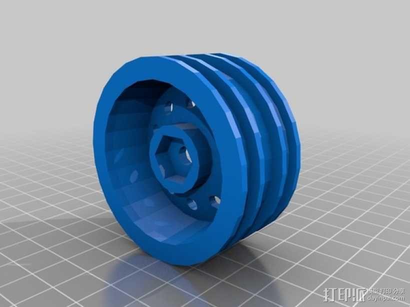 遥控车 轮辋 3D模型  图2