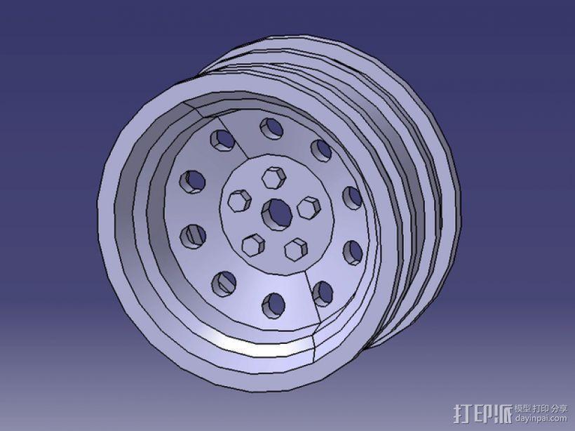 遥控车 轮辋 3D模型  图1