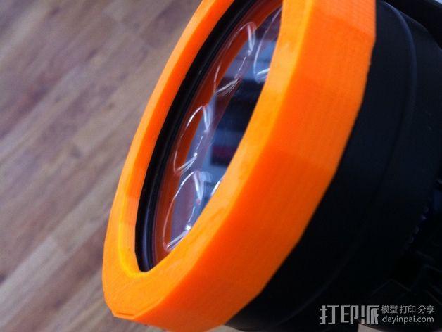 Tilly Tec灯头保护环 3D模型  图1