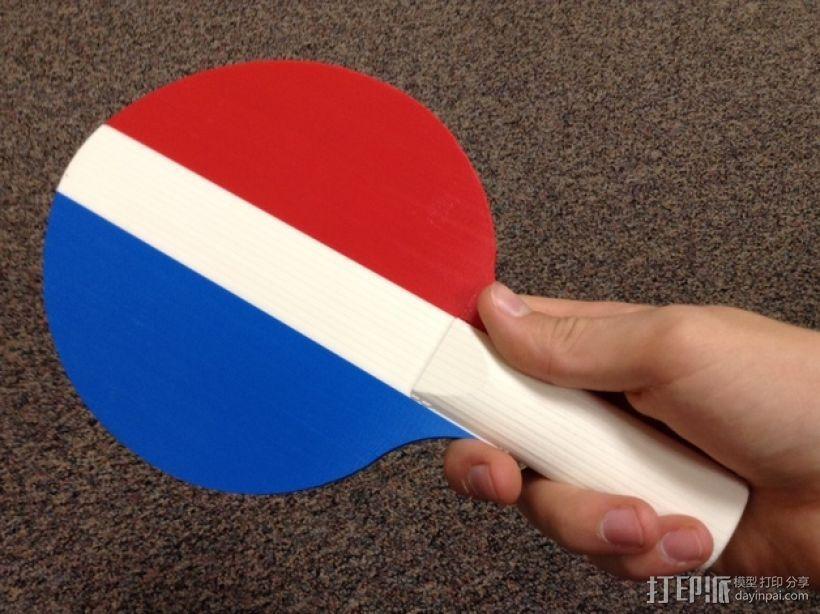 乒乓球拍  3D模型  图1