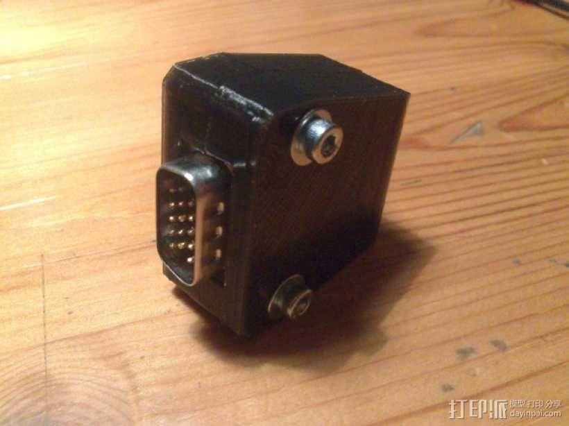 插头连接器外壳 3D模型  图1