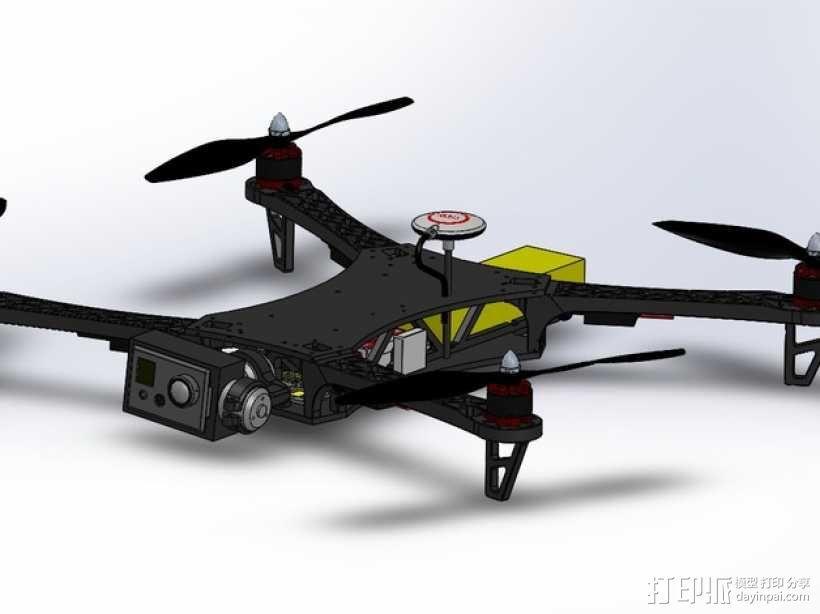 四轴飞行器常平架 3D模型  图2