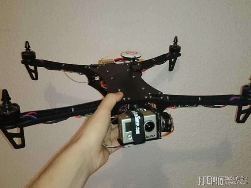 四轴飞行器常平架 3D模型  图1