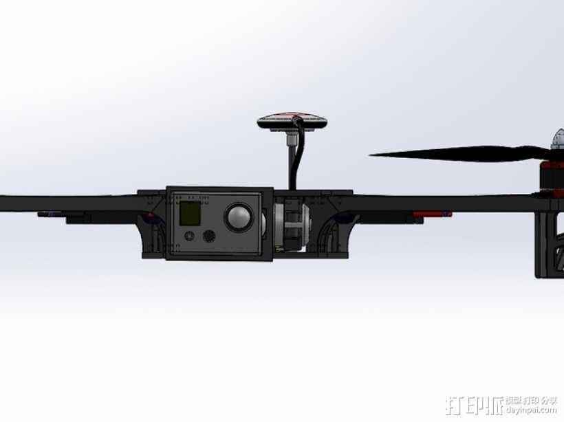 四轴飞行器常平架 3D模型  图5