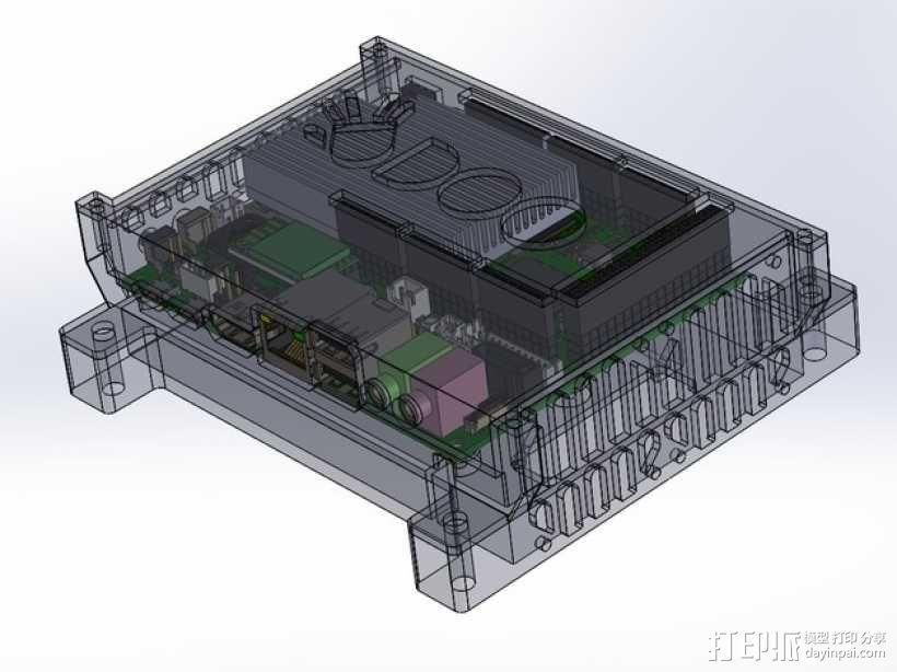 四轴飞行器底座 3D模型  图1