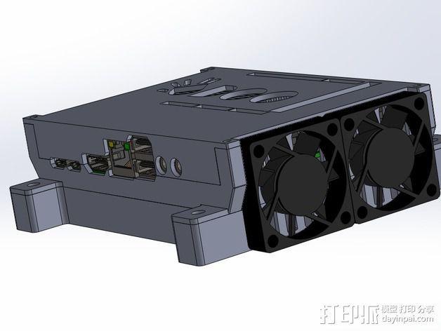 四轴飞行器底座 3D模型  图5