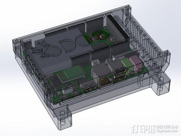 四轴飞行器底座 3D模型  图8