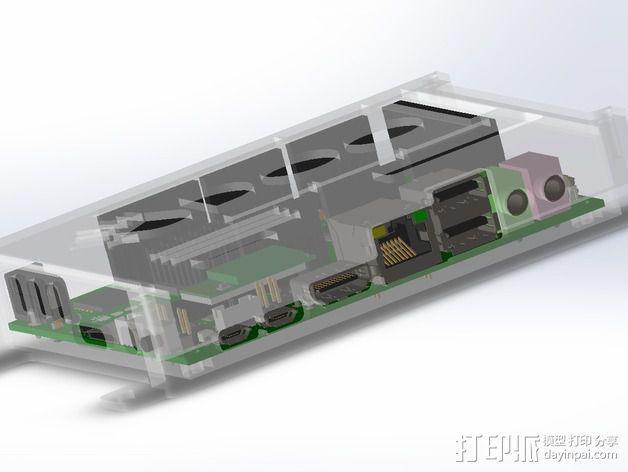 四轴飞行器底座 3D模型  图13