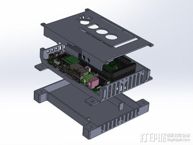 四轴飞行器底座 3D模型  图10