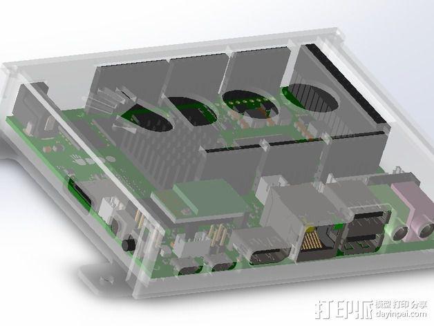 四轴飞行器底座 3D模型  图22