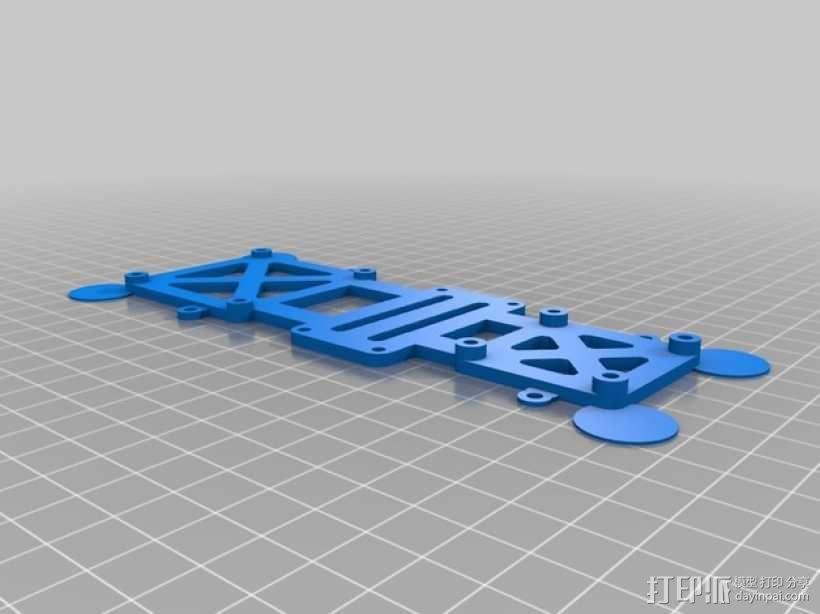 TBS Discovery多轴航拍器 顶板 3D模型  图1