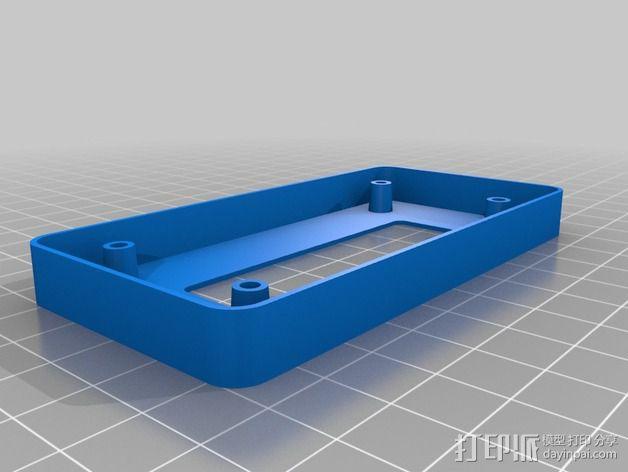 参数化LCD显示屏边框 3D模型  图1