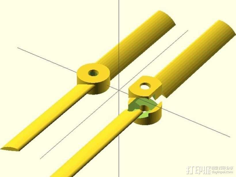 螺旋桨 3D模型  图1