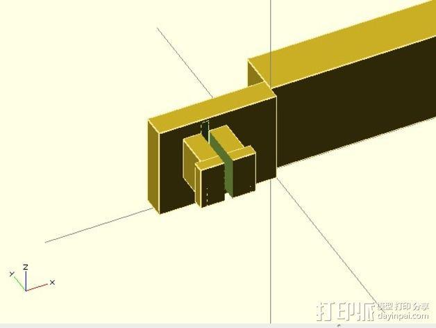 任天堂3DSXL游戏机旋钮 3D模型  图3