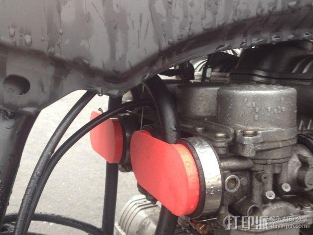 摩托车汽化器进气盖  3D模型  图1
