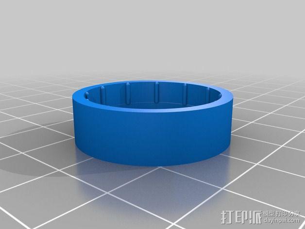 Hero3相机镜头保护盖 3D模型  图3
