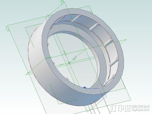 Hero3相机镜头保护盖 3D模型  图1