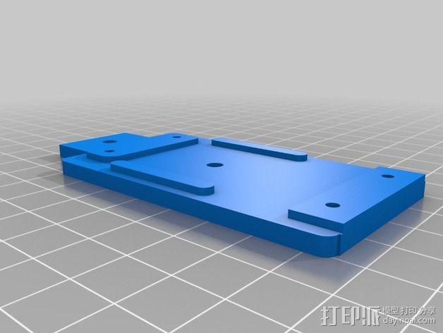常平架配适器 3D模型  图2
