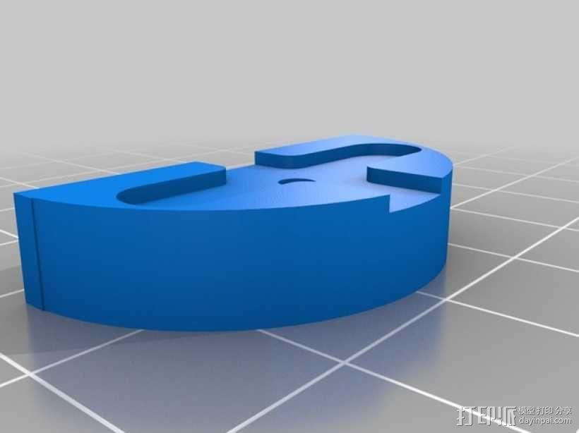 三轴飞行器马达伺服支架 3D模型  图6