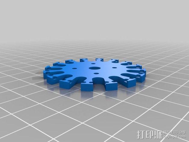 全向轮 3D模型  图2