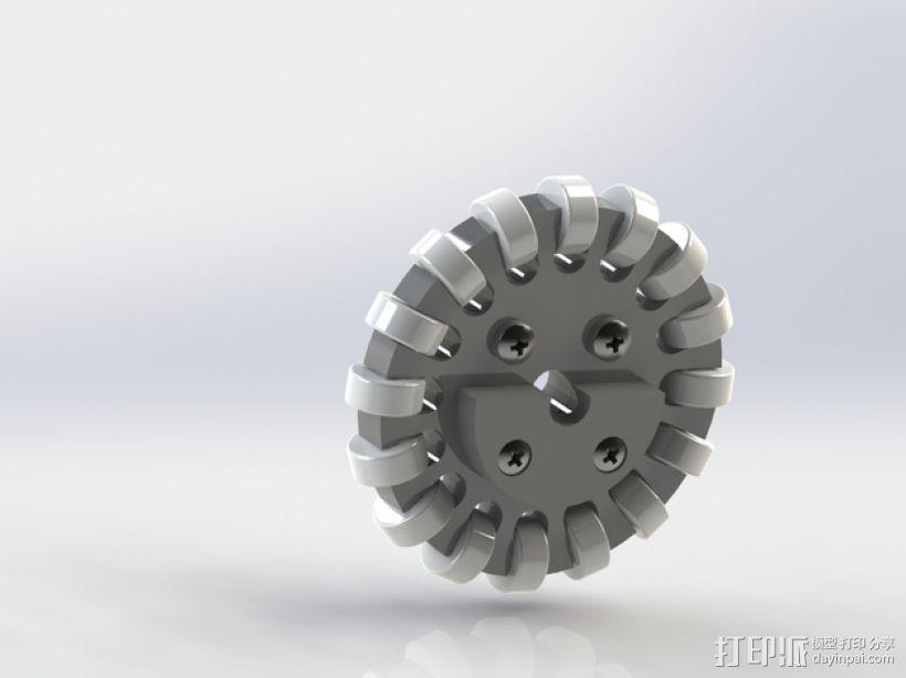全向轮 3D模型  图1