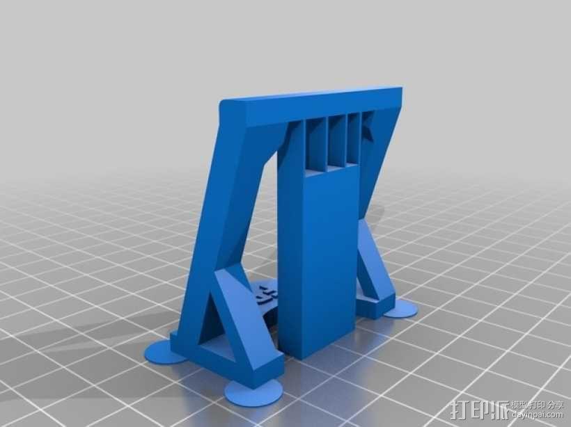 CCD摄像机支架 3D模型  图2