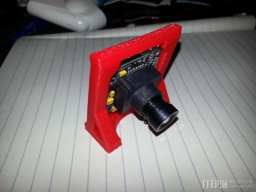 CCD摄像机支架 3D模型  图1