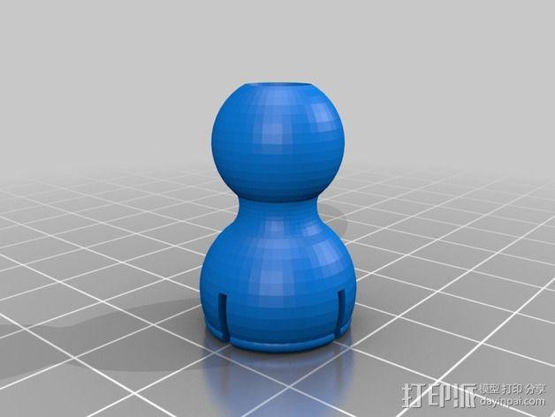 球形接头 3D模型  图1