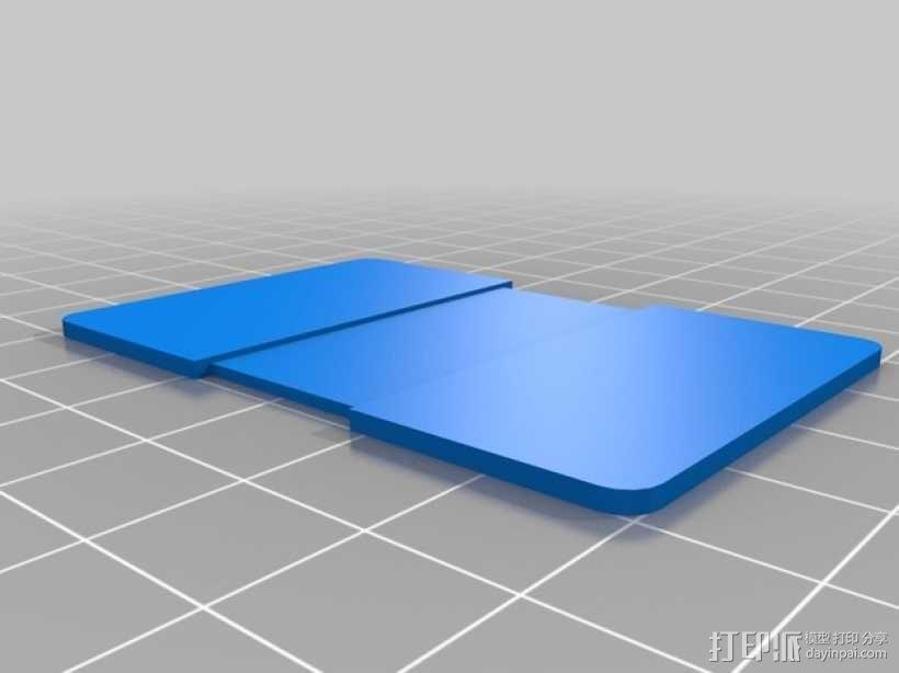支撑板 3D模型  图1