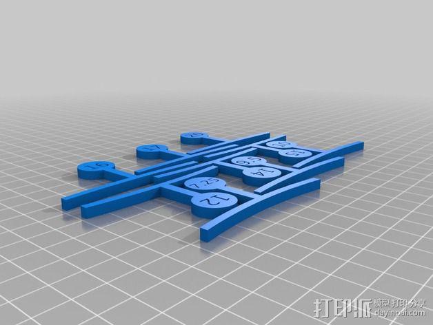 吉他弦测量装置 3D模型  图3