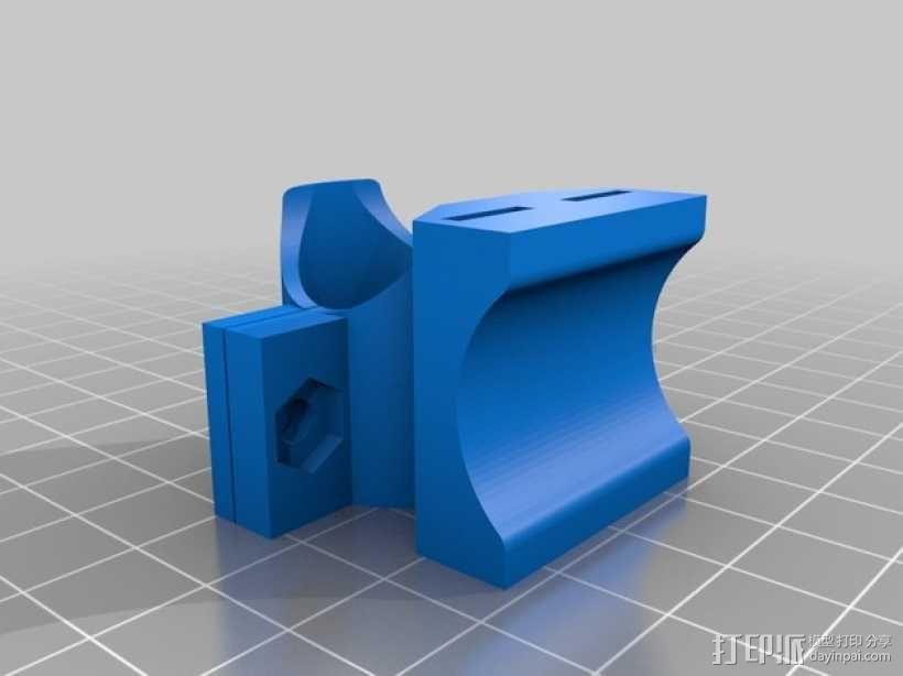 自行车 车灯支架 3D模型  图1
