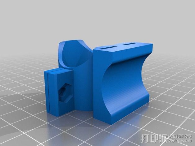自行车 车灯支架 3D模型  图2