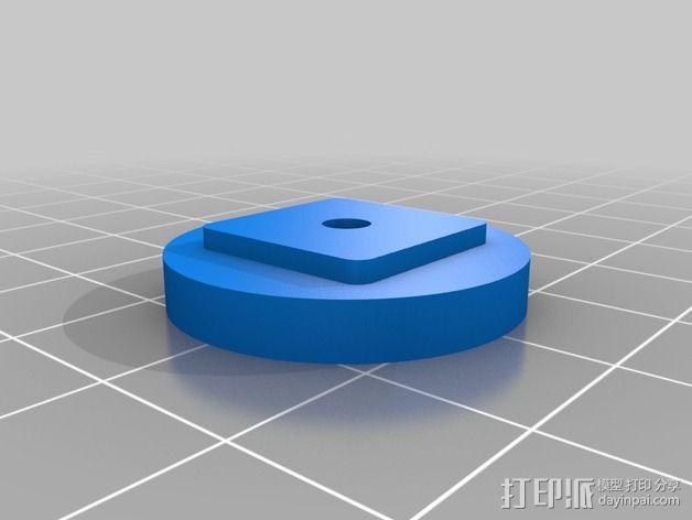 DJI GPS模块支架 3D模型  图4