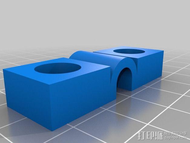 电源线固定夹 3D模型  图2