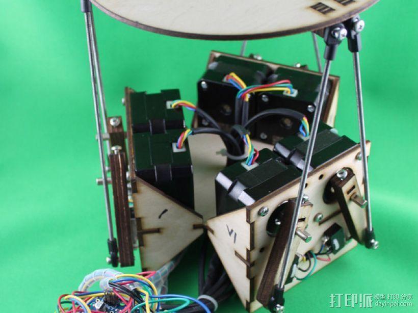 斯图尔特平台 3D模型  图1