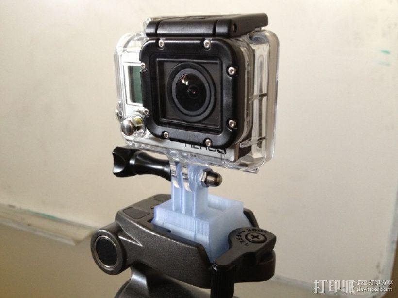 GoPro相机三脚架连接器 3D模型  图1