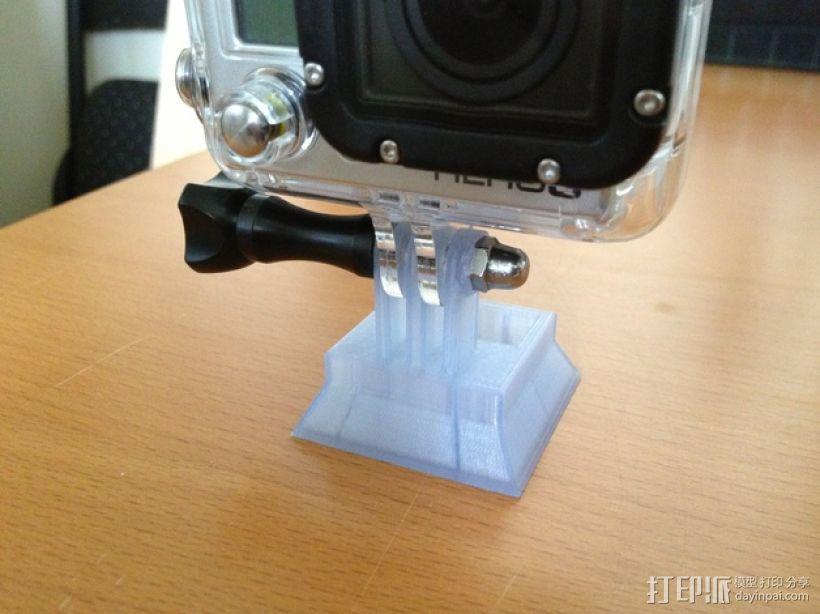 GoPro相机三脚架连接器 3D模型  图2