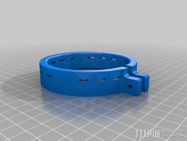 彩弹料斗环  3D模型  图2