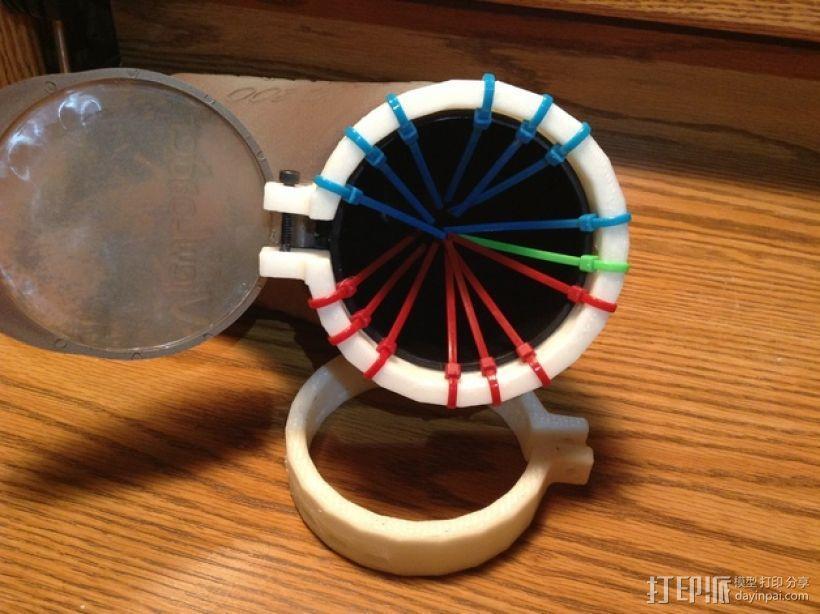 彩弹料斗环  3D模型  图1