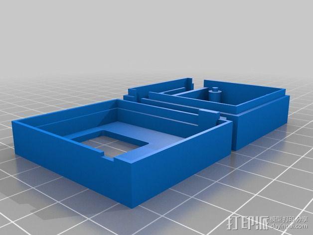 3DR/RCT Radio + CRIUS GPS保护外盒 3D模型  图2