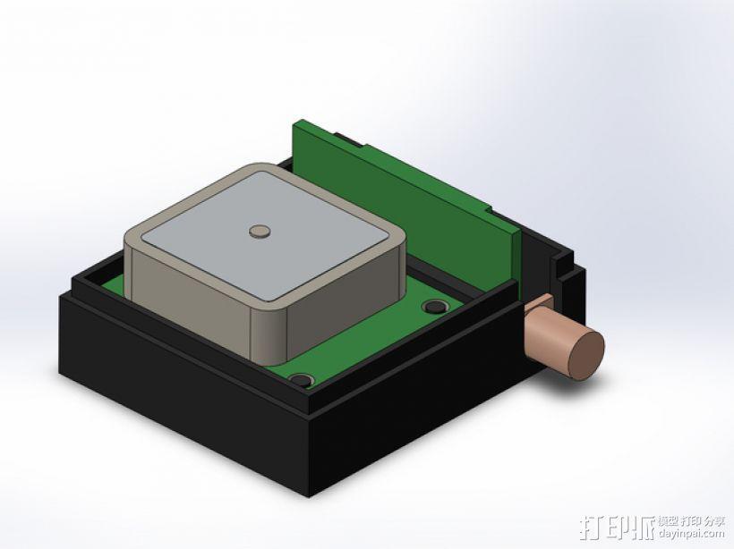 3DR/RCT Radio + CRIUS GPS保护外盒 3D模型  图1