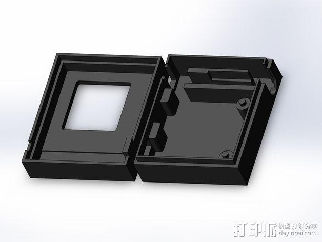 3DR/RCT Radio + CRIUS GPS保护外盒 3D模型  图5